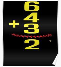 Baseball Softball Double Play Poster