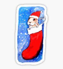 Christmas Guinea Pig Sticker