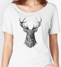 Ornate Buck Women's Relaxed Fit T-Shirt