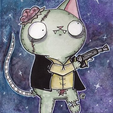 Zombie Han Solo Cat by jrock1184