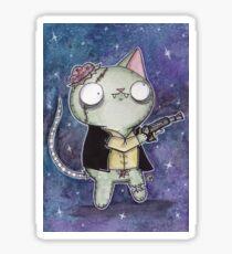 Zombie Han Solo Cat Sticker