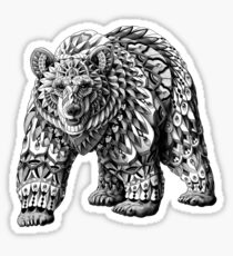 Ornate Bear Sticker