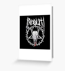 Metal Rudolph Greeting Card