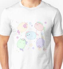 Chubby Pastel Unicorns (In Space) Unisex T-Shirt
