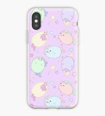 Chubby Pastel Unicorns (In Space) iPhone Case