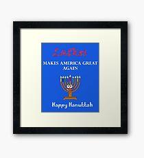 Latkes Makes America Great Again - Happy Hanukkah  Framed Print