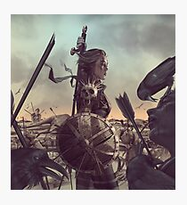 Warrior Cover Battlefield Photographic Print