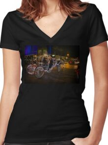 Carriage Ride Women's Fitted V-Neck T-Shirt