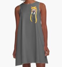 Little Pocket Moon A-Line Dress