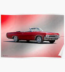 1965 Chevrolet 396 Impala Convertible Poster