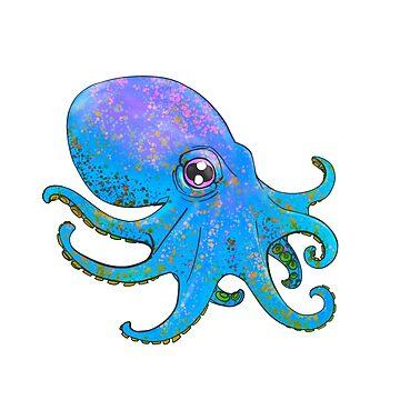 Octopus! - Blue by Jamaal-Raoof