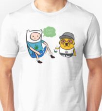 Adventure Time - Finn and Jake high Unisex T-Shirt