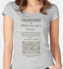 Shakespeare, A midsummer night's dream 1600 Women's Fitted Scoop T-Shirt