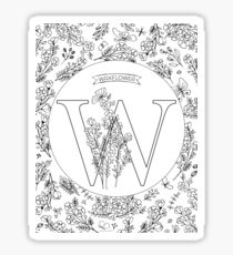 W is for Waxflower Sticker