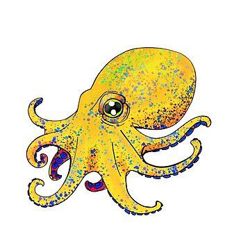 Octopus! - Yellow by Jamaal-Raoof