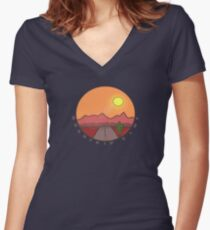 Roadtrip Time Women's Fitted V-Neck T-Shirt