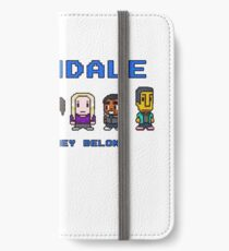 8-bit Greendale is Where They Belong (Video Game Text) iPhone Wallet/Case/Skin