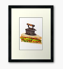 Ironic Sandwich Framed Print
