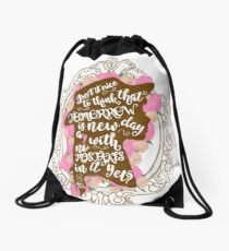 Tomorrow is a new day Drawstring Bag