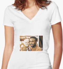 Bradley Lowery Fundraiser Women's Fitted V-Neck T-Shirt
