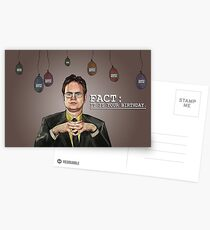 Fact: Dwight Says Happy Birthday! Postcards