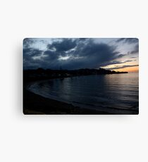 Sunset over Penguin. Canvas Print