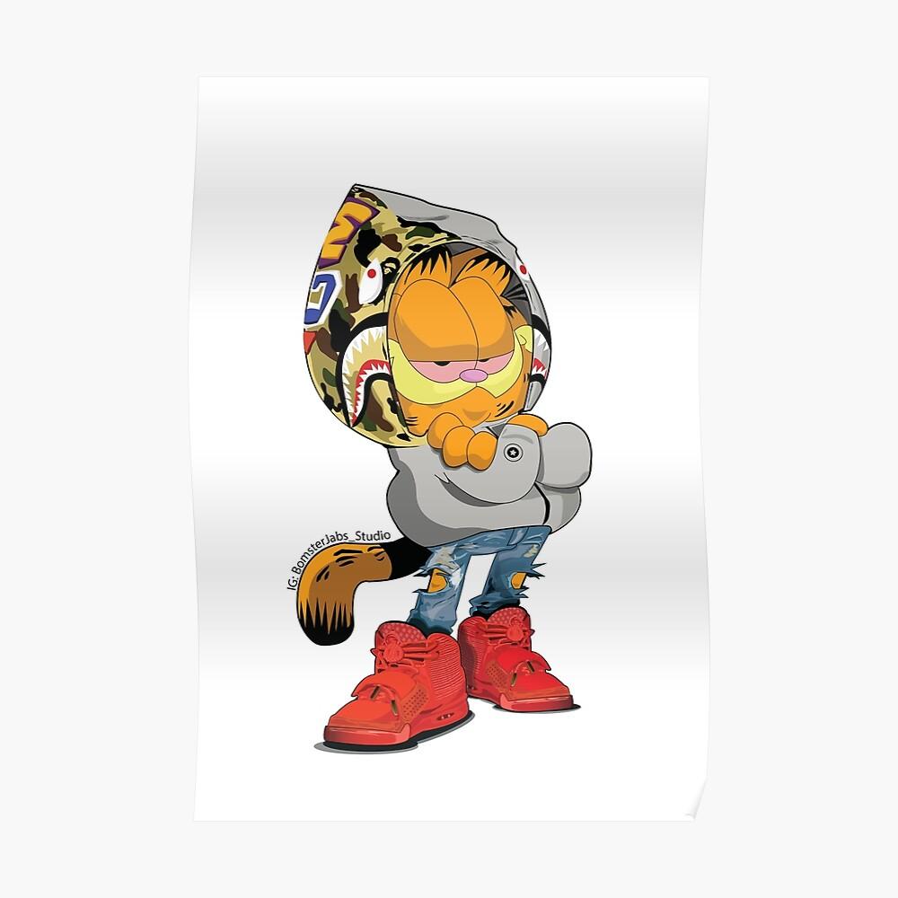 Garfield Bape Póster