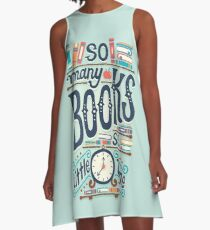 So many books so little time A-Line Dress