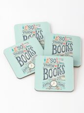 So many books so little time Coasters