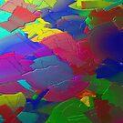Metallic Abstract  by Charldia