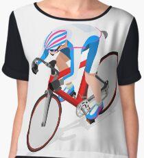 Cycling Track Sports 3D Isometric Chiffon Top