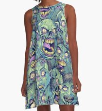 Zombie Repeatable Pattern A-Line Dress