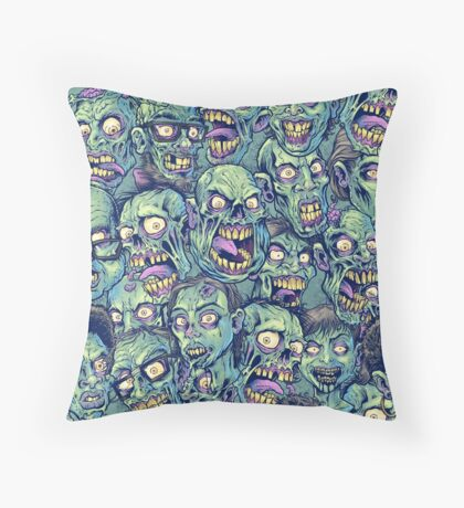 Zombie Repeatable Pattern Throw Pillow