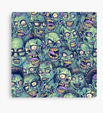 Zombie Repeatable Pattern Canvas Print