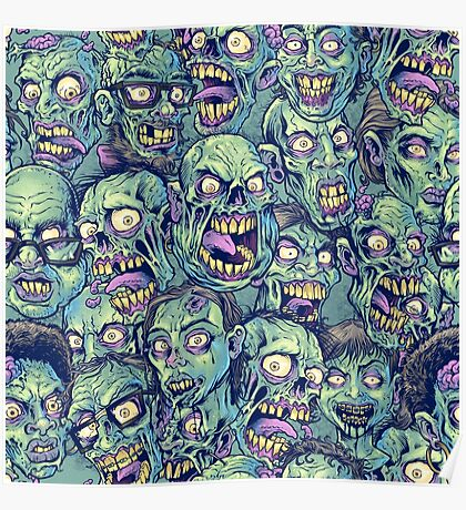 Zombie Repeatable Pattern Poster