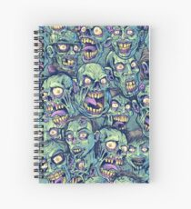 Zombie Repeatable Pattern Spiral Notebook