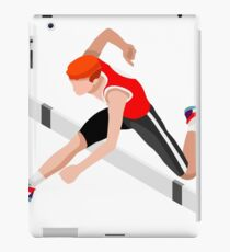 Isometric Athletics Hurdle Jump Sports iPad Case/Skin