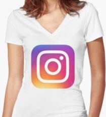 Instagram (Logo) Women's Fitted V-Neck T-Shirt