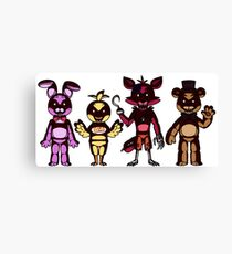 Fnaf T-Shirts Canvas Print