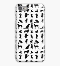 Dog Silhouettes iPhone Case/Skin