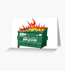 2016 Dumpster fire Greeting Card