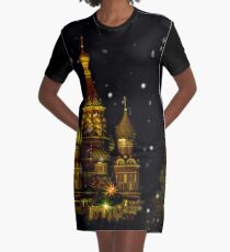 Moscow Night Graphic T-Shirt Dress