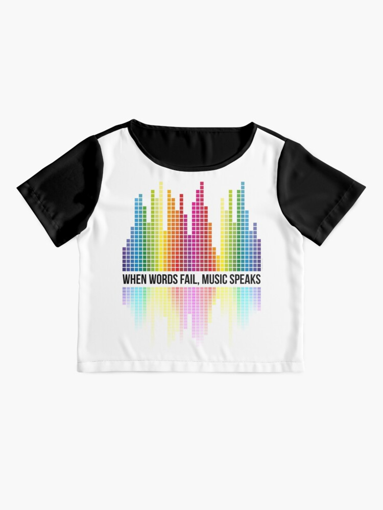 Alternate view of Music Speaks (When Words Fail) - Equalizer bars Chiffon Top
