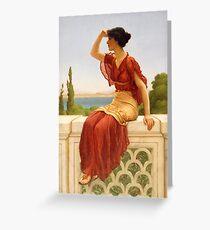 The Signal - John William Godward - 1899 Greeting Card
