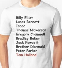 Tom Holland Characters List T-Shirt