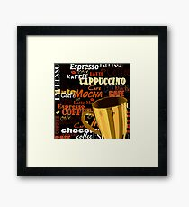 Mocha Brown Framed Print