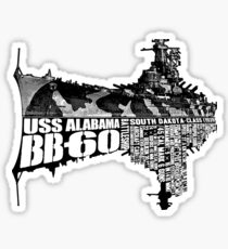 USS Alabama (BB-60) Sticker