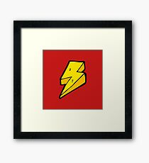 Lightning Bolts Framed Print