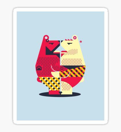 Two Bears Sticker