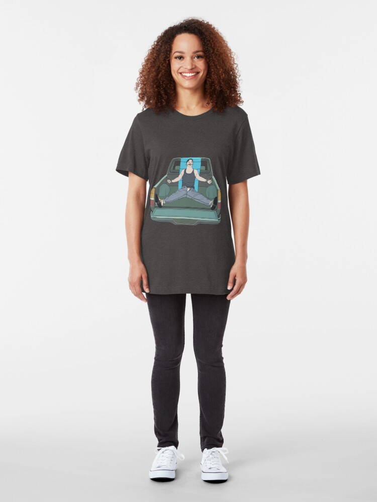 Alternate view of Bound in Truck Bed Slim Fit T-Shirt